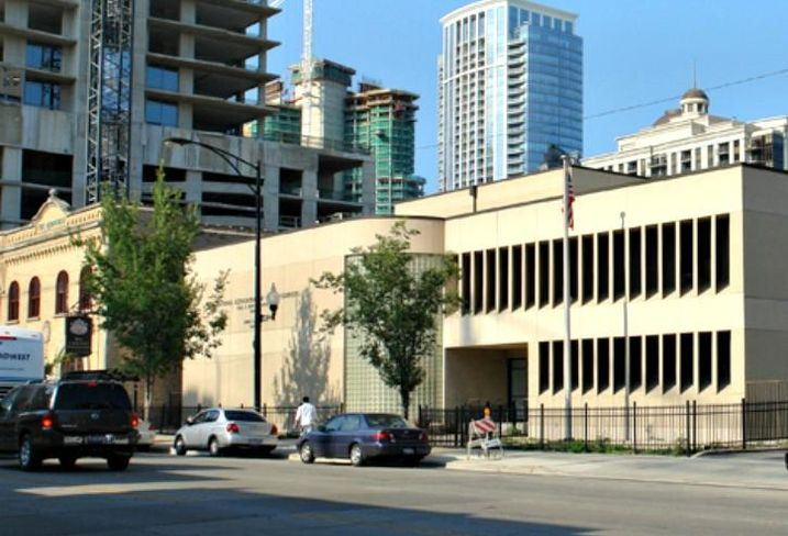 The former Letter Carriers union HQ at 1411 South Michigan Avenue, Chicago