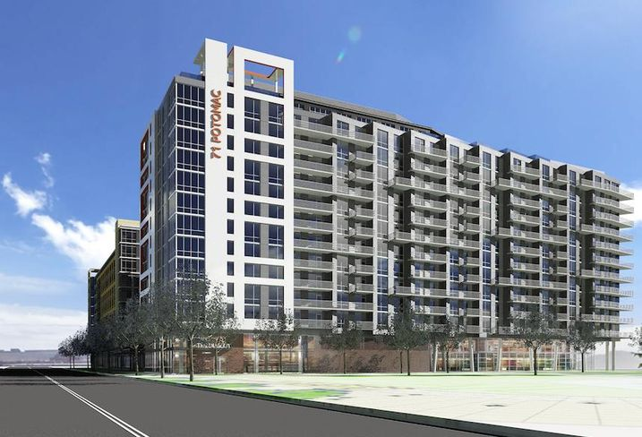 A rendering of Potomac 71, Phase 2 of MRP Realty and Florida Rock Properties' mixed-use project in the Capitol Riverfront