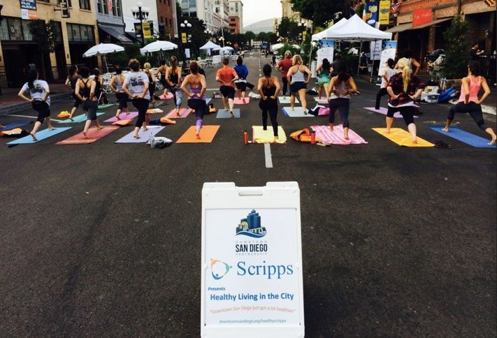 Scripps Health offers Yoga classes in various Downtown San Diego locations.
