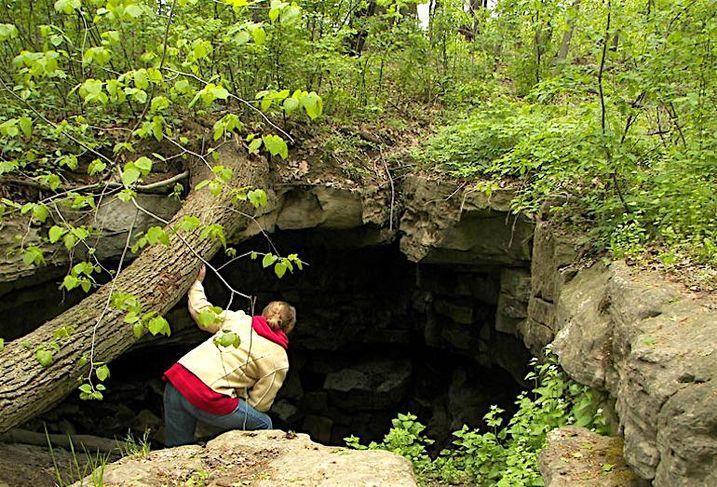 Caves at the Eramosa Karst conservation area in Hamilton.