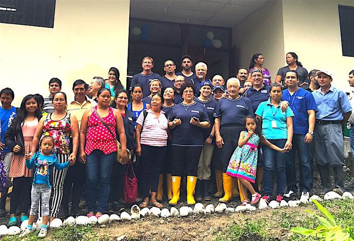 The Losani Homes team in Ecuador to work with Free The Children charity