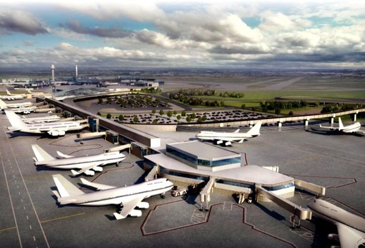 A rendering of the planned expansion for O'Hare International Airport