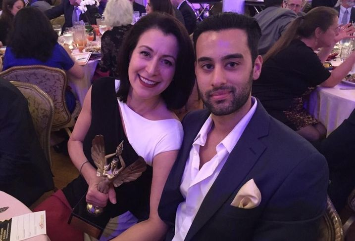 Betty was honored as one of Brooklyn's Top Women in Business at the 2016 Brooklyn Power Women In Business Networking & Awards event held on March 16, 2016. The photo was taken at the event and features Betty with her son, Hamid Castro.