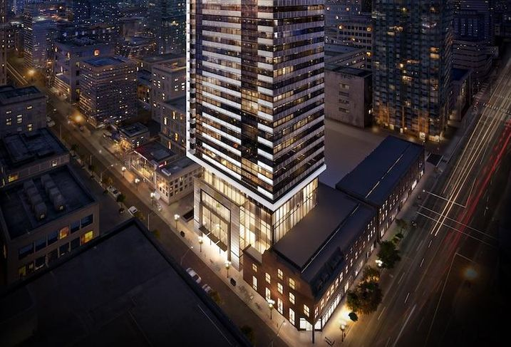 Great Gulf's 8 Cumberland, which will incorporate a row of preserved heritage buildings along its Yonge Street-facing side.