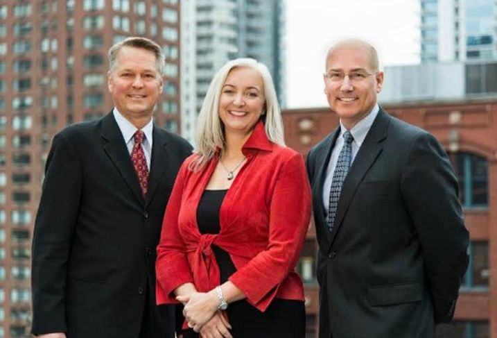 Kinzie Group brokers Andy Kiener, Christine Lutz and Steven Maher