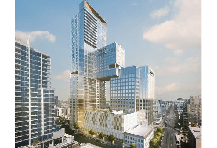 This nearly $400M 7th & Market development will create a landmark, 39-story tower along Market St that combines a mix of residential, retail, office, hotel and public parking uses.