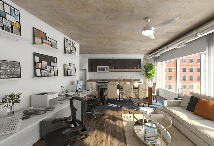 E-lofts apartment office