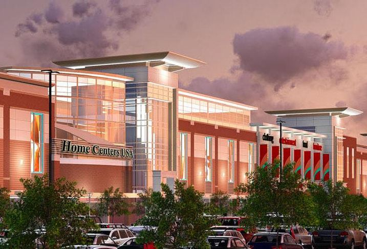 A rendering of the planned Home Centers USA mall in Stafford County, VA
