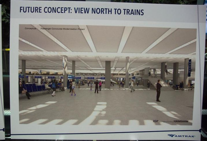 Union Station Amtrak renovation rendering