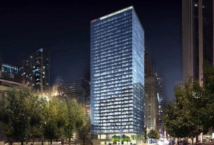 A rendering of the new CNA Center at 151 North Franklin Street in Chicago.