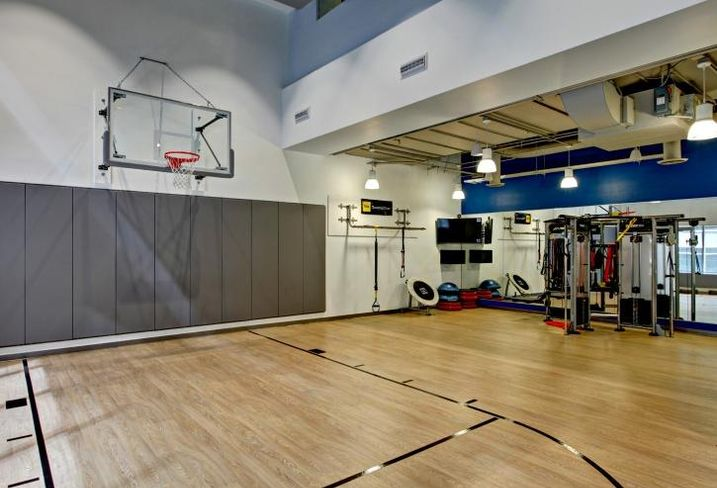 This half-basketball court is part of 500 West Madison's recent renovations.