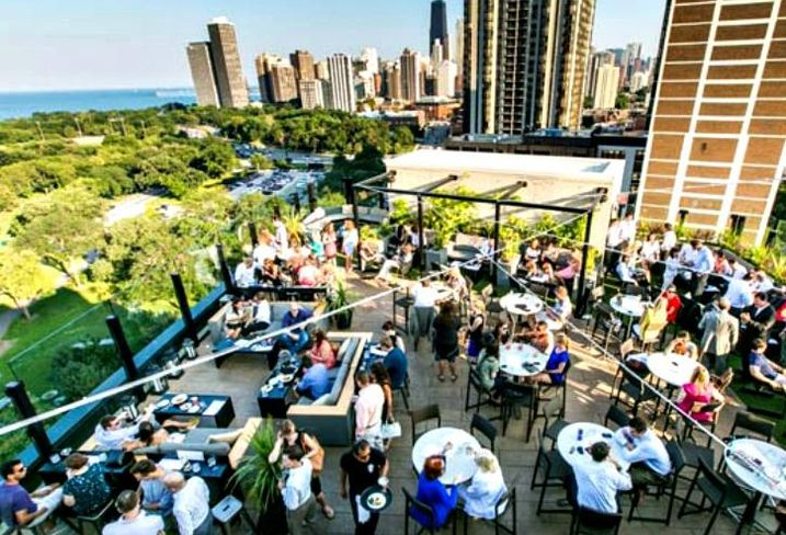 The Rooftop at the J Parker, at the Hotel Lincoln, Chicago