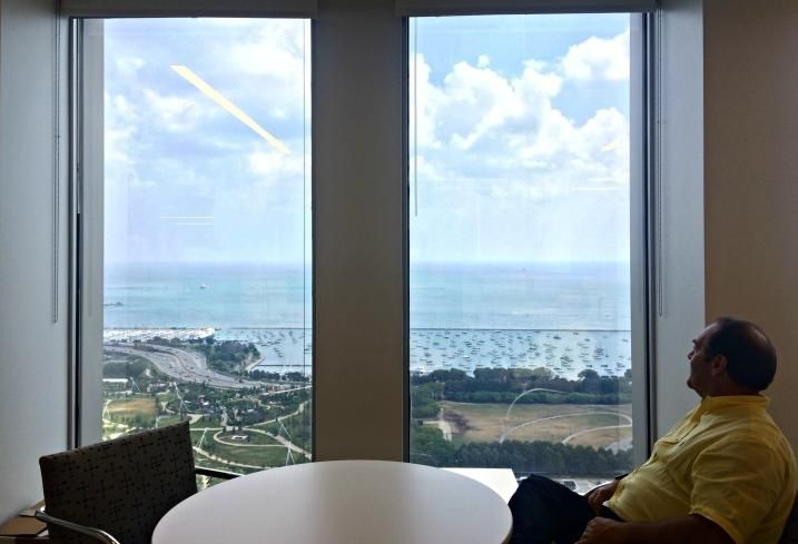 A view of Chicago's lakefront from Draper & Kramer's new offices at 55 E Monroe.