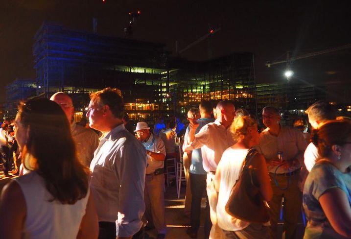 The Wharf bridge lighting celebration