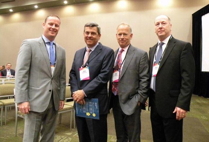 NAI Hiffman EVP Jim Adler, Choose DuPage CEO John Carpenter, Hamilton Partners Partner Dave Andrews and JLL SVP Norm Murdoch