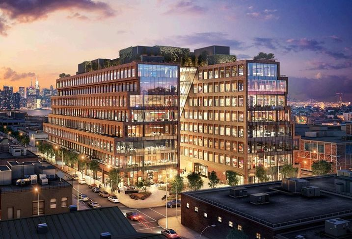 Rendering of 25 Kent Ave., a mixed-use development in Williamsburg, Brooklyn