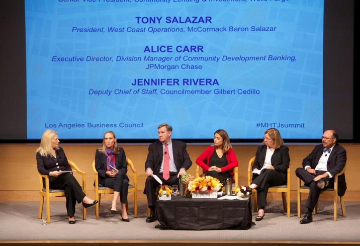 Alice at the Mayor's Housing Summit at UCLA this year