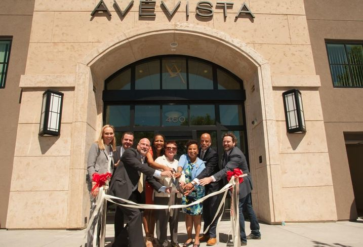 Alice at the grand opening for AveVista Apartments in Oakland, California.  Developed by Bridge Housing.