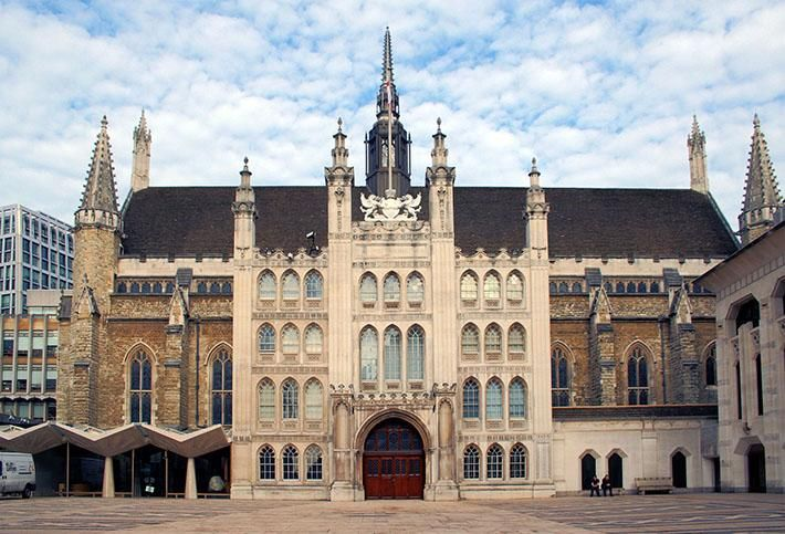 Guildhall, seat of the Corporation of London, the governing body of the City