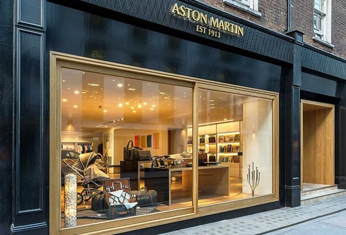 Aston Martin at No. 8 Dover Street in London's Mayfair District