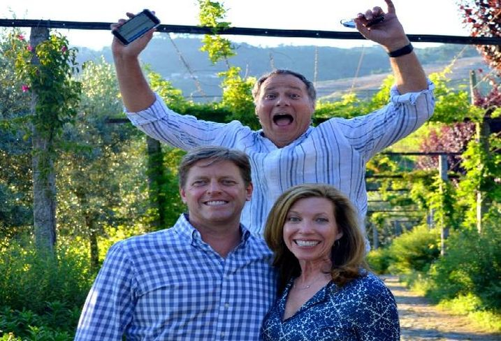 T5 Data Centers EVP Craig McKesson (front, left) with wife Kim and friend Marcus photobombing them during a vacation in Portugal.