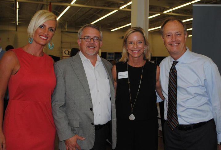 Here's ENTOS Design's Nicole Griffin, Barry Maners, Younger Partners co-founder Kathy Permenter, and ENTOS Design's Brian Barnes.