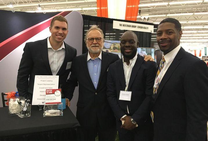 Weitzman's Joe Davenport, Bob Young & Phillip Hooks and Basil Mitchell with NAI Robert Lynn Retail.