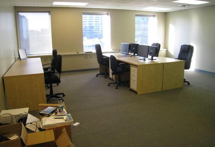 Office building; desks