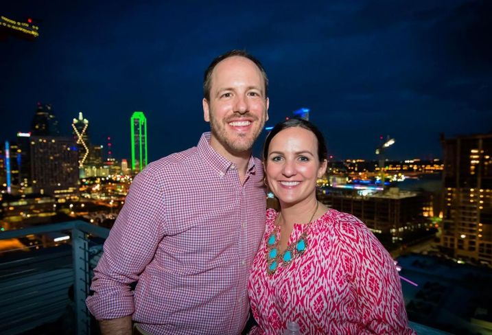 Amy Tharp and husband Ryan of Downtown Dallas Inc