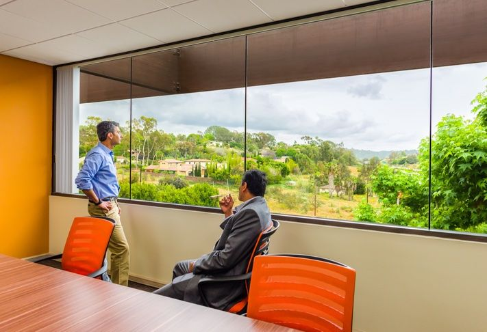PierCap Partners' office in Del Mar, is just off the I-5, at 445 Marine View Ave, but overlooks a treed area.