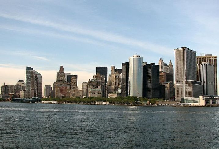 New York City skyline from the Hudson River