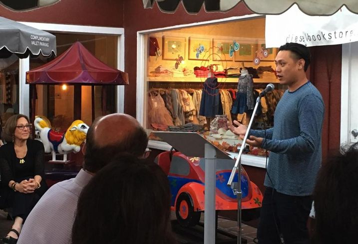Jon Chu at Margot Bisnow book signing