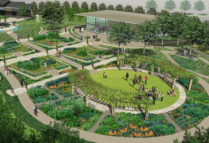 The Dallas Arboretum and Botanical Garden broke ground on an $8M farm-to-table garden on the southern part of the property on Monday, September 12 at 10 a.m. Designed as a ferme ornée through the inspiration of PBS home and garden expert P. Allen Smith, SWA Architects, Buchanan Architecture and the Dallas Arboretum's horticulture team, the two-acre year-round food oasis named A Tasteful Place  is one of the last two major gardens to conclude the Arboretum's Master Plan and will open in the Fall of 2017.
