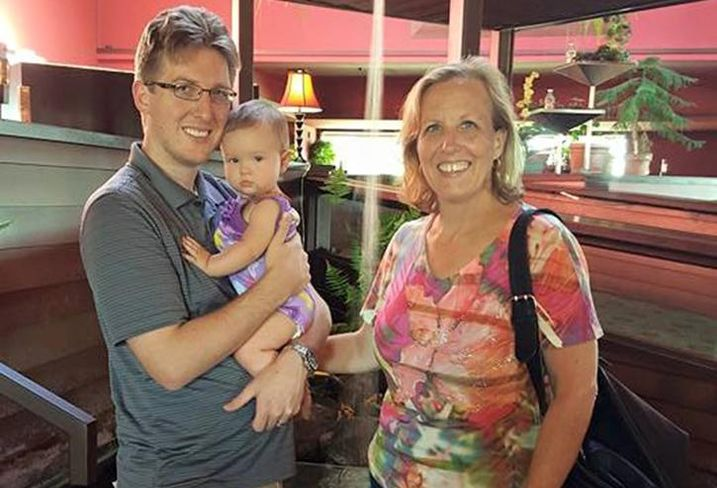 JLL SVP Sylvia Payette with her son and granddaughter.