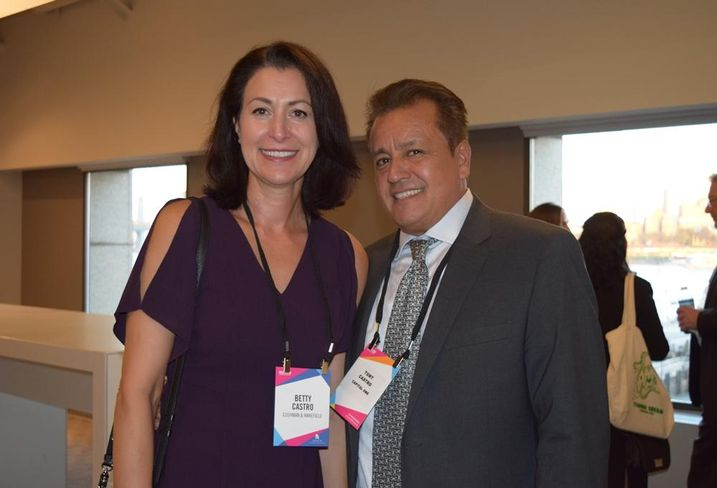CushWake's Betty Castro and husband Tony Castro of Capital One