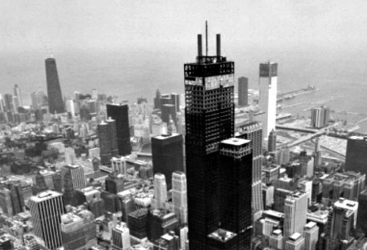 Construction of Willis Tower, Chicago