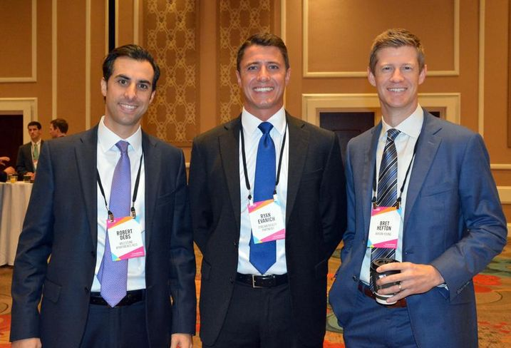 Milestone Apartments director Robert Debs, Stream VP Ryan Evanich, Avison Young principal Bret Hefton