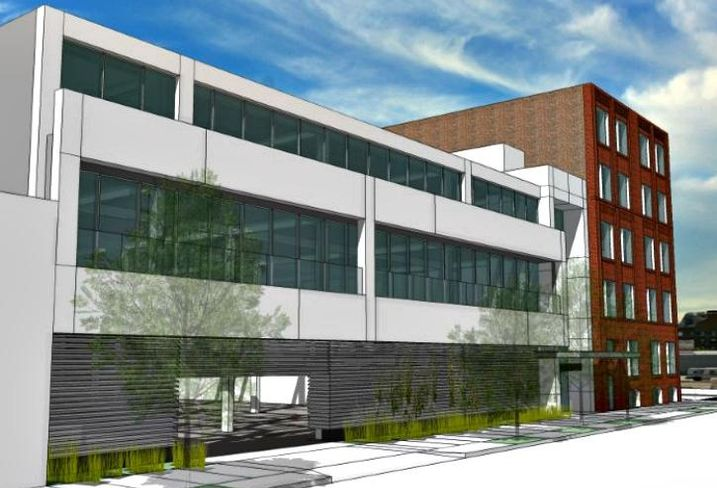 A rendering of Dayton Street Partners plans for a 30k SF addition to 1500 West Carroll, Chicago