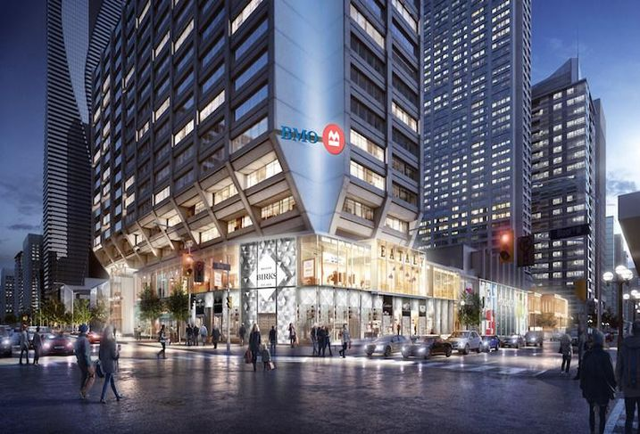 A rendering of the Manulife Centre redevelopment