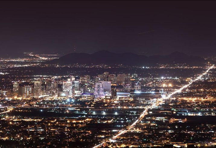 Downtown Phoenix Skyline at night