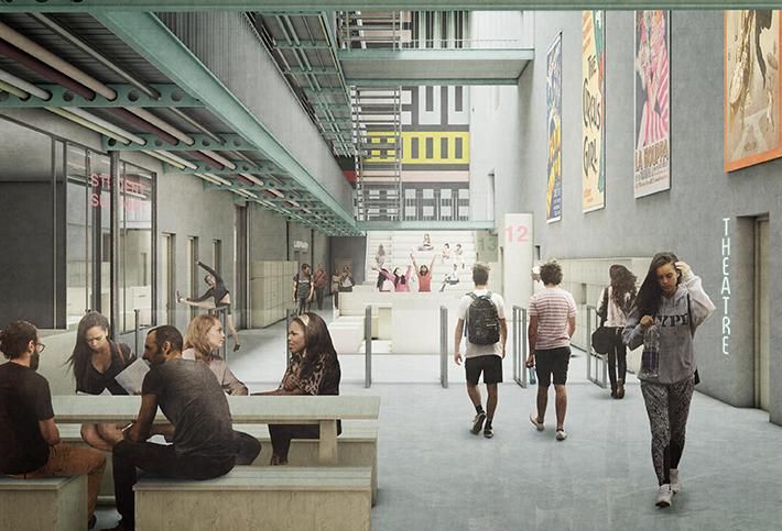 CGI of Mountview Academy