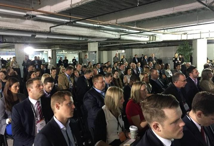 The crowd at Bisnow's 8th annual state of the Chicago market event at NewCity, Chicago.