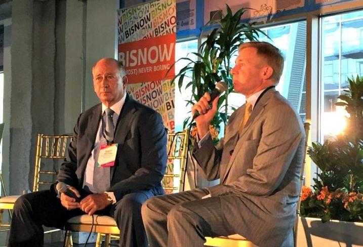 Starwood Retail Partners CEO Scott Wolstein and Pircher, Nichols & Meeks partner Gene Leone