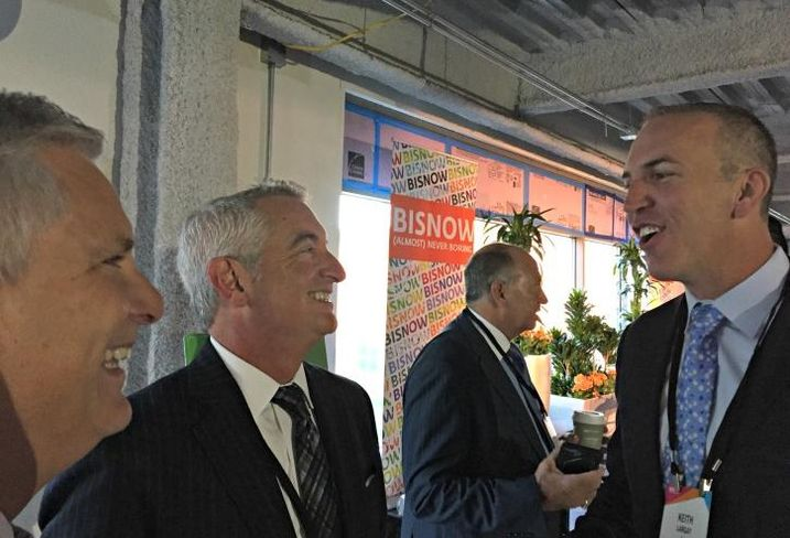 Pircher, Nichols & Meeks partner Dave Pezza; Starwood Retail Partners president/COO Scott Ball and JLL managing director Keith Largay