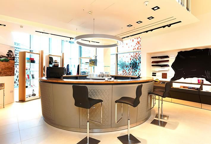 Bentley's personalization studio in Westfield, London