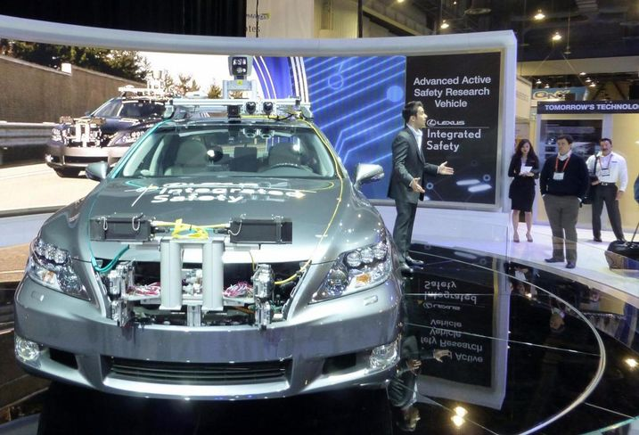 Toyota driverless car