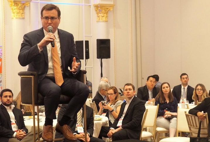 Vornado head of residential Toby Millman speaking at Bisnow's Multifamily Annual Conference East on Oct. 20, 2016.