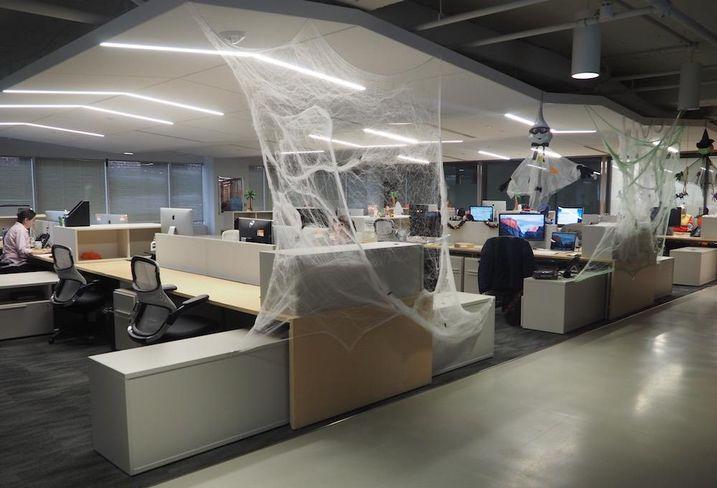 Blackboard HQ halloween offices