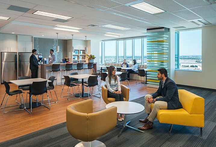 Social space at CIBC Mellon's new Mississauga office