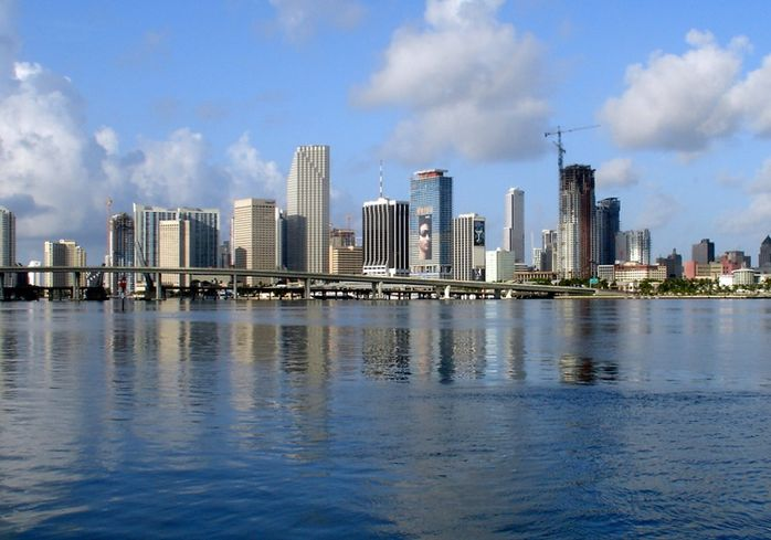 City of Miami coastline